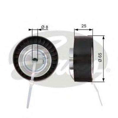 GATES T36124 Направляющий ролик поликлинового ремня