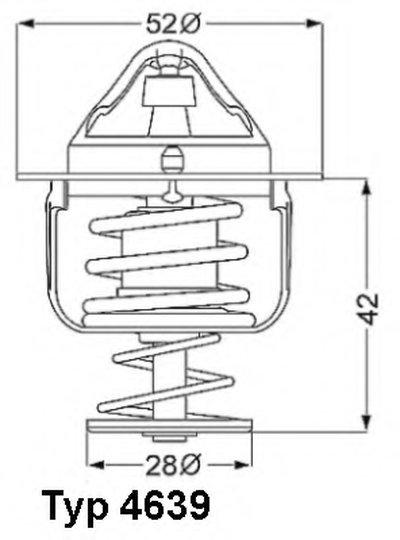 463982D WAHLER Термостат, охлаждающая жидкость
