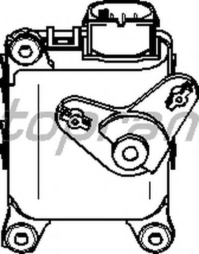 Регулятор заслонки повітряного каналу TOPRAN 111100 для авто AUDI, SKODA, VW с доставкой