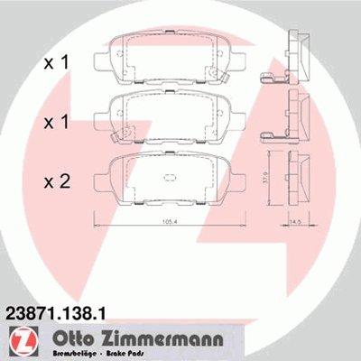 Гальмівні колодки зад Nissan Murano/Quashqai/X-tra