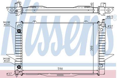 Радиатор VOLVO C70(98-)2.0 T(+)[OE 36000001]