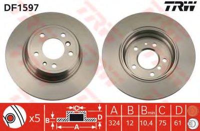 Диск гальмівний (1 шт.) BMW - 725d/728i/730d/730i/735i/740i/840i/850i/H1/H2