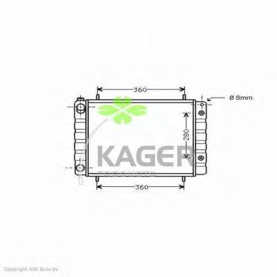 Радиатор, охлаждение двигателя KAGER купить