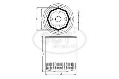 SM108 SCT GERMANY Масляный фильтр