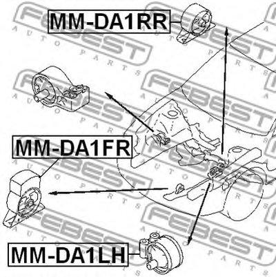 Подушка двигателя FEBEST MMDA1RR