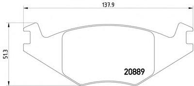 Тормозные Колодки Дисковые TEXTAR 2088902 для авто SEAT, VW с доставкой