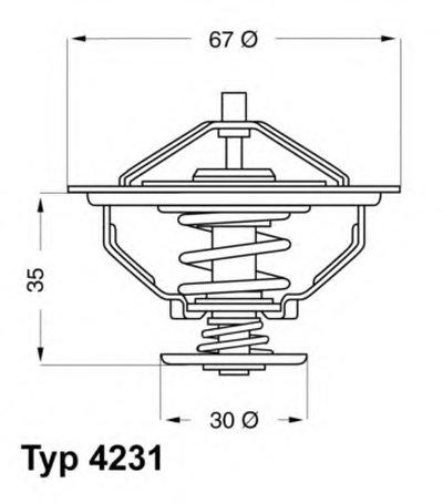 423180D WAHLER Термостат, охлаждающая жидкость