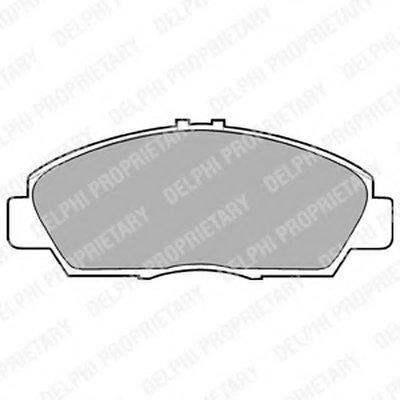 Тормозные колодки DELPHI LP869 для авто HONDA, ROVER с доставкой