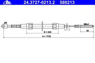 Трос, стояночная тормозная система ATE купить