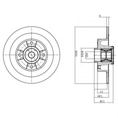 BG9028RS DELPHI Тормозной диск