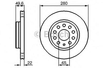 0986479114 BOSCH Тормозной диск