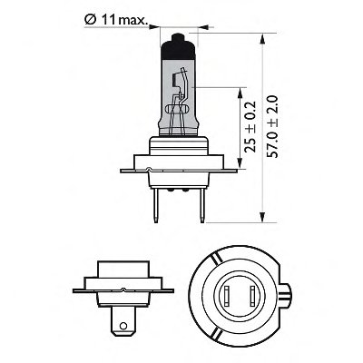 Лампа накаливания, фара дальнего света; Лампа накаливания, основная фара; Лампа накаливания, противотуманная фара; Лампа накаливания; Лампа накаливания, основная фара; Лампа накаливания, фара дальнего света; Лампа накаливания, противотуманная фара; Лампа накаливания, фара с авт. системой стабилизации; Лампа накаливания, фара с авт. системой стабили X-tremeVision PHILIPS купить