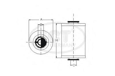 SL601 SCT GERMANY Топливный фильтр