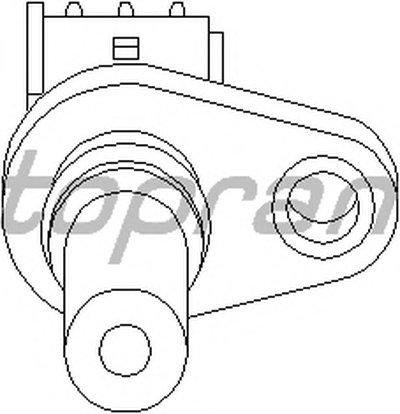 302653 TOPRAN Датчик частоты вращения, управление двигателем