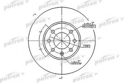 PBD1609 PATRON Тормозной диск