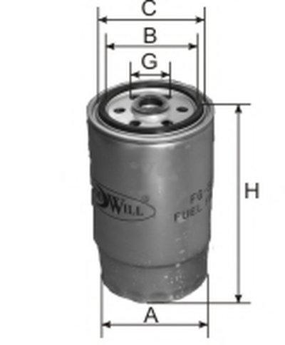 FG524 GOODWILL Топливный фильтр