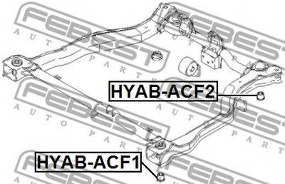 Сайлентблок Подрамника Hyab-Acf1 FEBEST HYABACF1 для авто HYUNDAI с доставкой-1