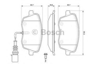 Гальмівні колодки дискові SEAT/SKODA/VW -08