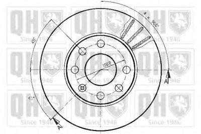 BDC3205 QUINTON HAZELL Тормозной диск -1