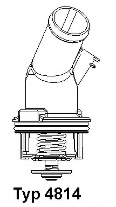 481492D WAHLER Термостат, охлаждающая жидкость