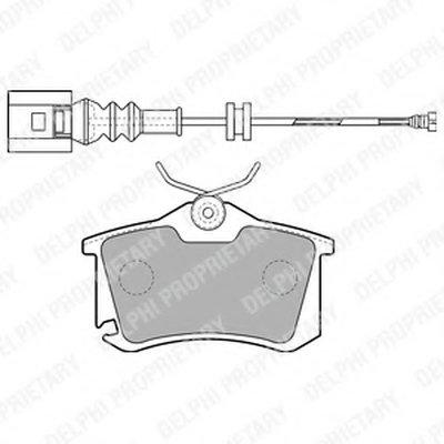 Тормозные колодки DELPHI LP1815 для авто AUDI, SEAT, SKODA, VW с доставкой