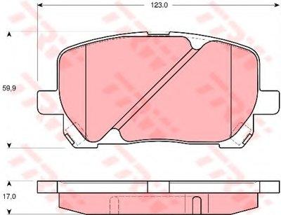 Гальмівні колодки дискові TOYOTA Avensis Verso