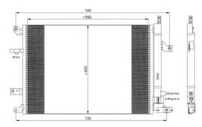 Радиатор кондиционера EASY FIT NRF 35739 для авто VOLVO с доставкой