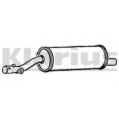 Средний глушитель выхлопных газов KLARIUS купить