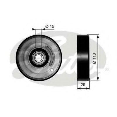 GATES T36160 Натяжитель поликлинового ремня