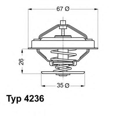423692D WAHLER Термостат, охлаждающая жидкость