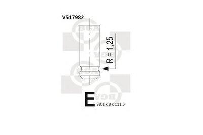 Клапан головки блоку циліндрів двигуна BGA V517982