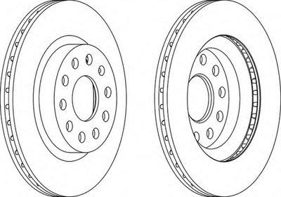 DDF1223 FERODO Тормозной диск -1