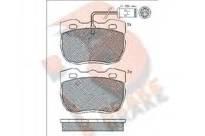 Комплект тормозных колодок, дисковый тормоз R BRAKE купить