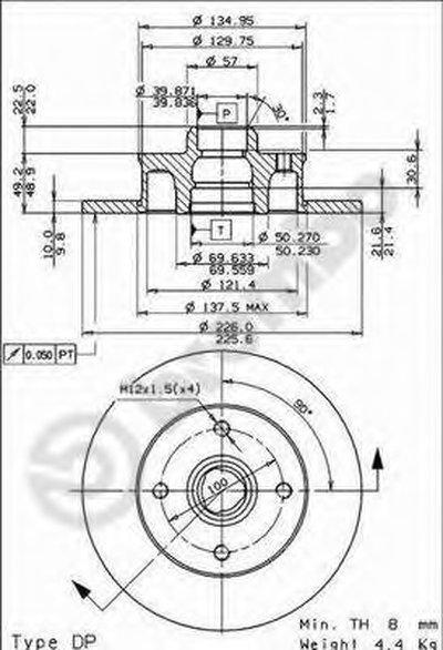 08500514 BREMBO Тормозной диск