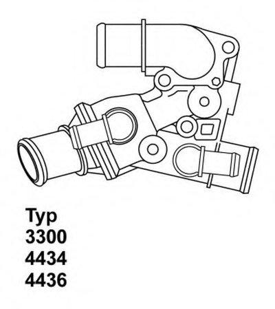 443680D WAHLER Термостат, охлаждающая жидкость