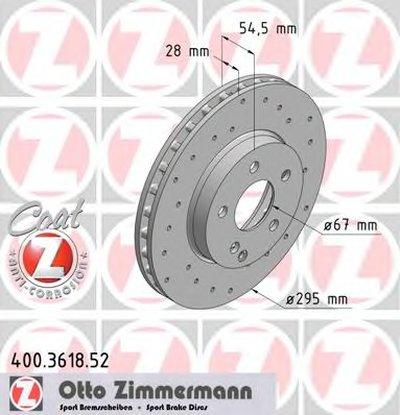 Диск тормозной mercedes sport coat ZIMMERMANN 400361852 для авто MERCEDES-BENZ с доставкой