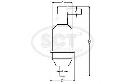 ST340 SCT GERMANY Топливный фильтр-2