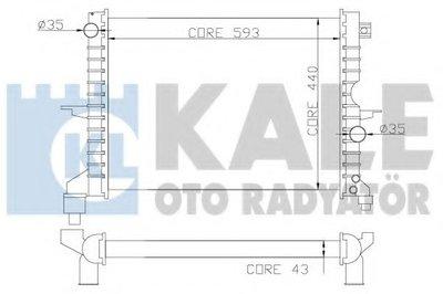 Радиатор, охлаждение двигателя KALE OTO RADYATÖR купить