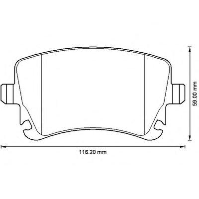 Колодки дискового тормоза (пр-во Jurid) JURID 573220J