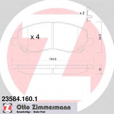 Гальмівні колодки перед Mitsubishi Lancer 9/X/Gala