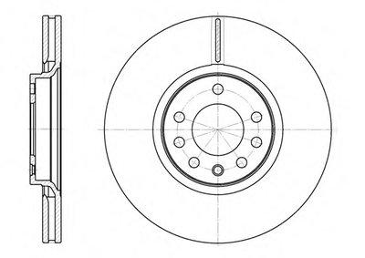 Диск тормозной OPEL ASTRA H,G,CORSA D,VECTRA B 07.05- передн. (пр-во REMSA)