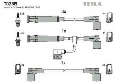Комплект проводов зажигания alternative TESLA купить