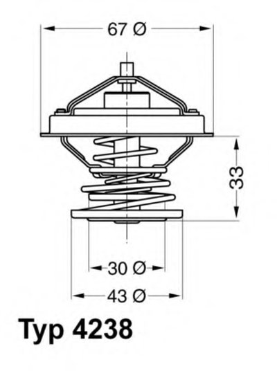 423892D WAHLER Термостат, охлаждающая жидкость