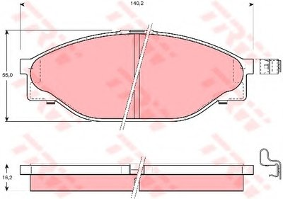 Гальмівні колодки дискові TOYOTA Hiace/Hilux