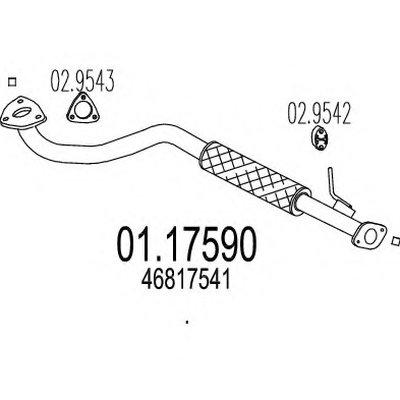 0117590 MTS Приемная труба выхлопной системы