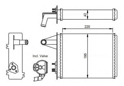 Радиатор печки NRF 53556 для авто FIAT с доставкой