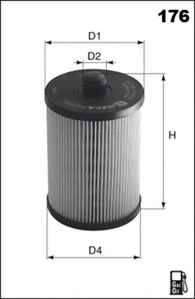 Фильтр масляный 1.2 TCe 16V Renault Duster, Kangoo II, Dokker (ELH4443) MEGAFILTER