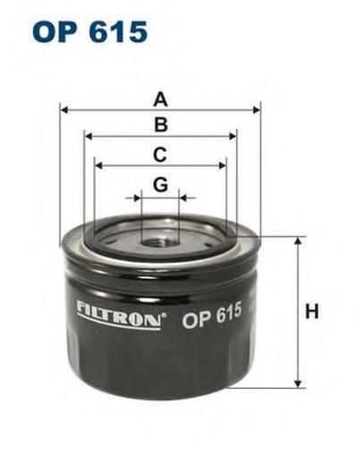 OP615 FILTRON Масляный фильтр