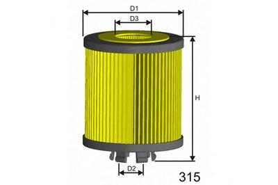 L019 MISFAT Масляный фильтр